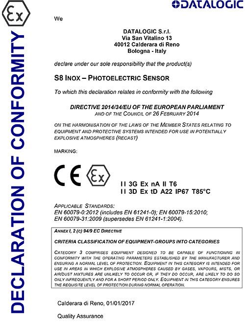 米秀资质证书-S8-Inox认证
