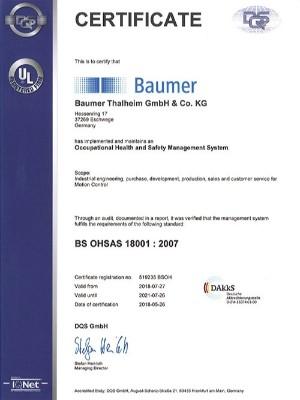 米秀资质证书-BS OHSAS 18001:2007